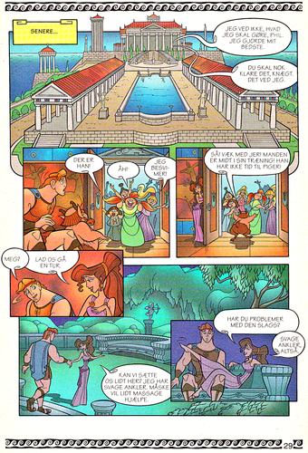 personnages de Walt Disney fond d'écran titled Walt Disney Movie Comics - Hercules (Danish 1997 Version)
