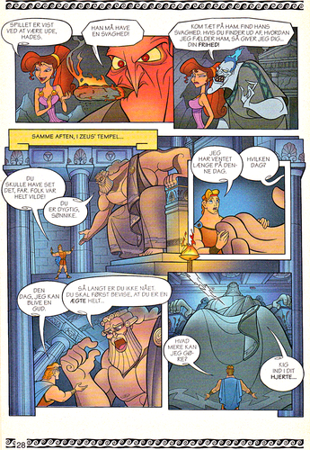 Walt Disney Characters achtergrond called Walt Disney Movie Comics - Hercules (Danish 1997 Version)