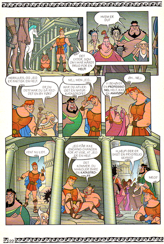 personaggi Disney wallpaper entitled Walt Disney Movie Comics - Hercules (Danish 1997 Version)