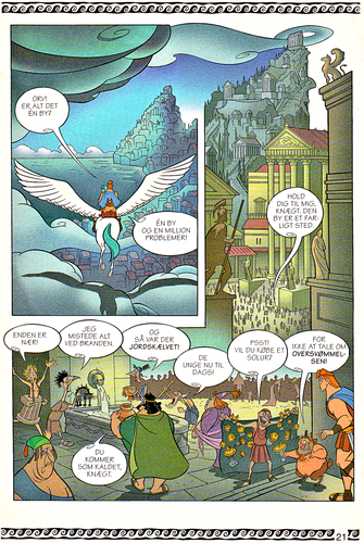 Karakter Walt Disney kertas dinding titled Walt Disney Movie Comics - Hercules (Danish 1997 Version)