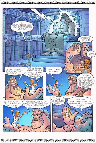 Walt Disney Characters karatasi la kupamba ukuta called Walt Disney Movie Comics - Hercules (Danish 1997 Version)