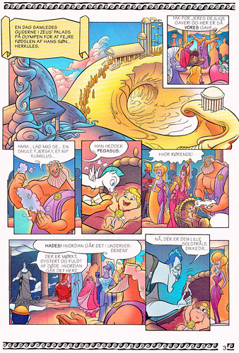 Karakter Walt Disney kertas dinding titled Walt Disney Movie Comics - Hercules (Danish 1997 Version)