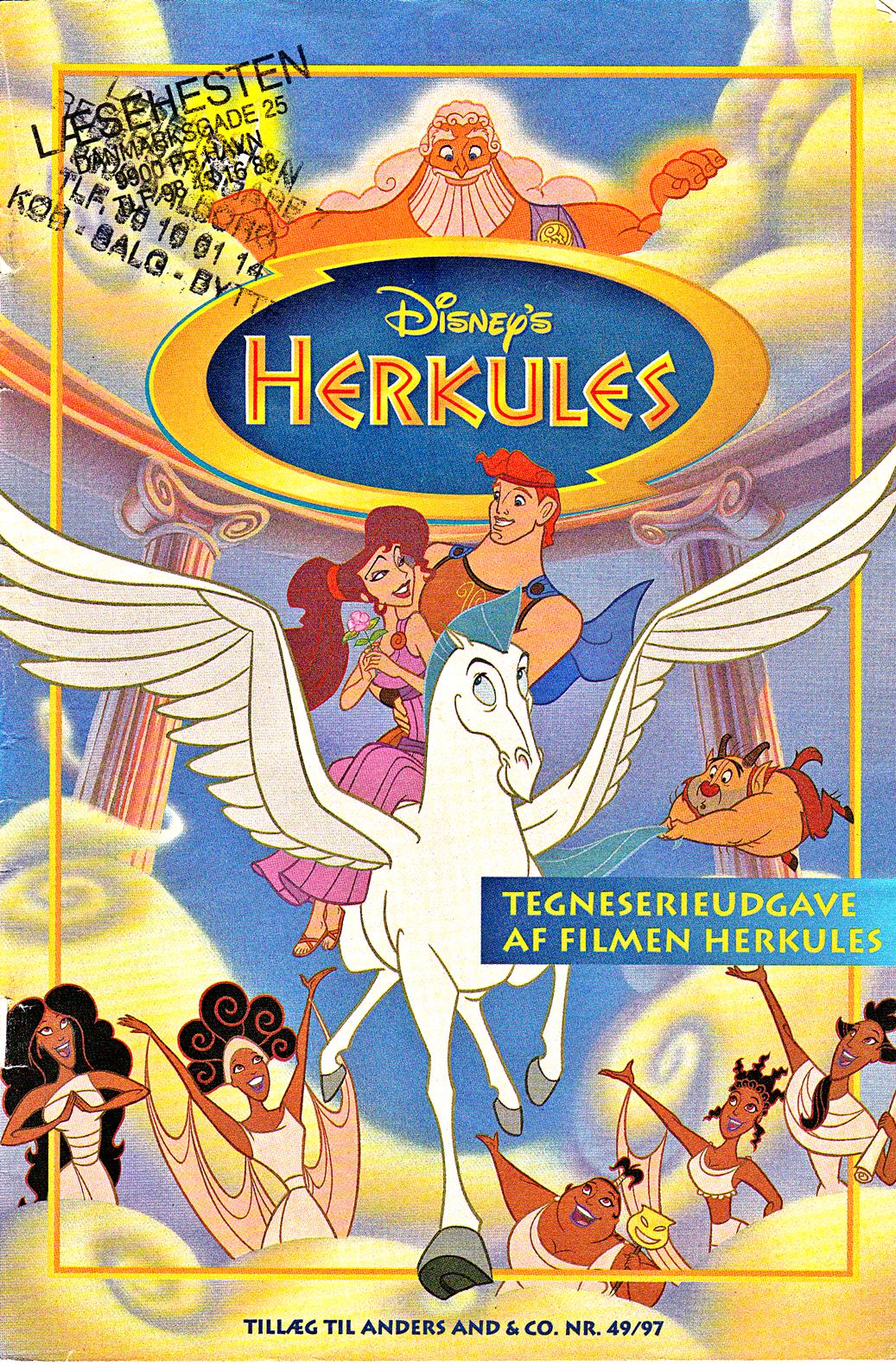 Walt Disney Movie Comics Hercules Danish 1997 Version