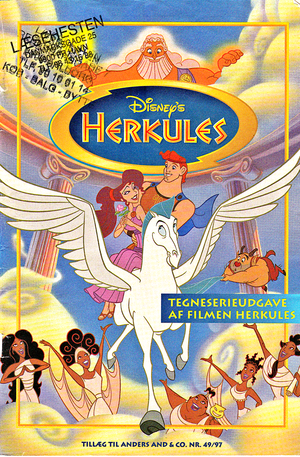 Walt Дисней Movie Comics - Hercules (Danish 1997 Version)