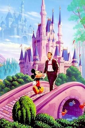 Walt Disney and Mickey chuột
