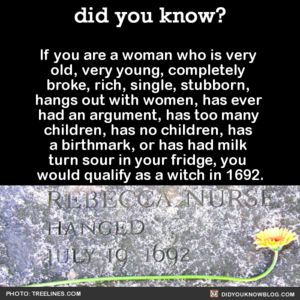 Would you have qualified as a witch?