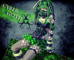 cyber goth chic