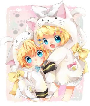 gambar image 壁紙 ちび cute kawai pokemon len rin