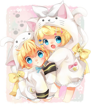 gambar image hình nền Chibi cute kawai pokemon len rin