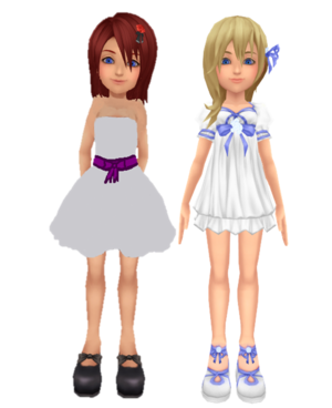 kairi and namine new white dress por kohaku ume and me