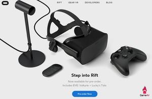 Oculus Rift Preorer 2016