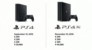 Comparison PS4 and PS4 Pro