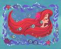 under the purple sea by neysa bove - disney fan art