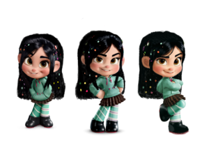 vanellope von schweetz hair down wallpaper