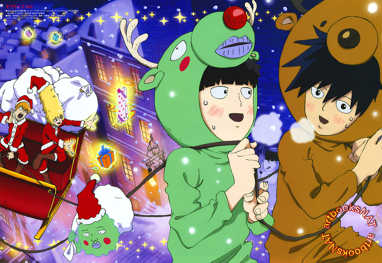 mob psycho 100 images merry christmas hd wallpaper and background photos