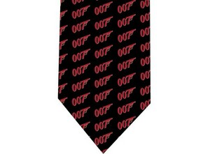 007 James Bond tie model 0 detail