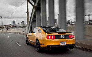 2012 Ford Boss mustang Rear In Motion
