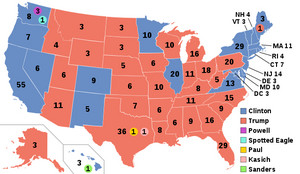2016 Final Electoral Map