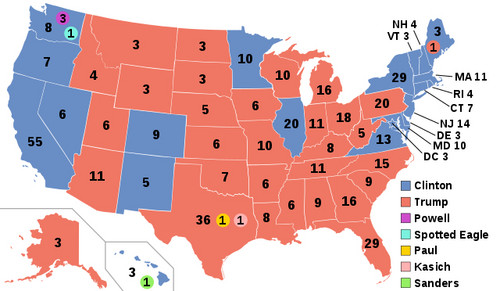 U.S. Republican Party 壁纸 entitled 2016 Final Electoral Map
