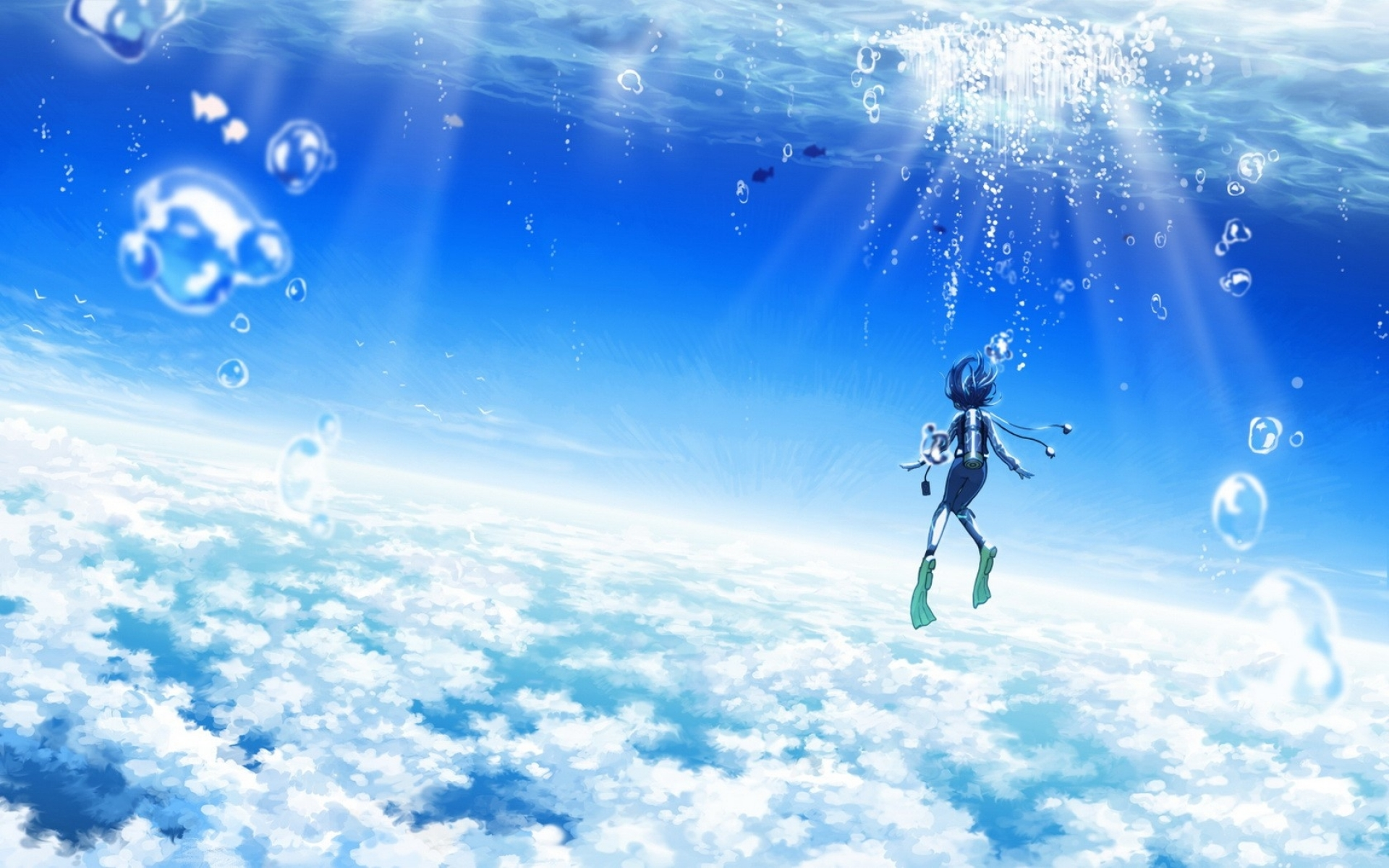 Maouki images 45905 anime scenery blue sky anime scenery ...