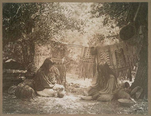 Apache Camp Life 1906 by Edward Curtis