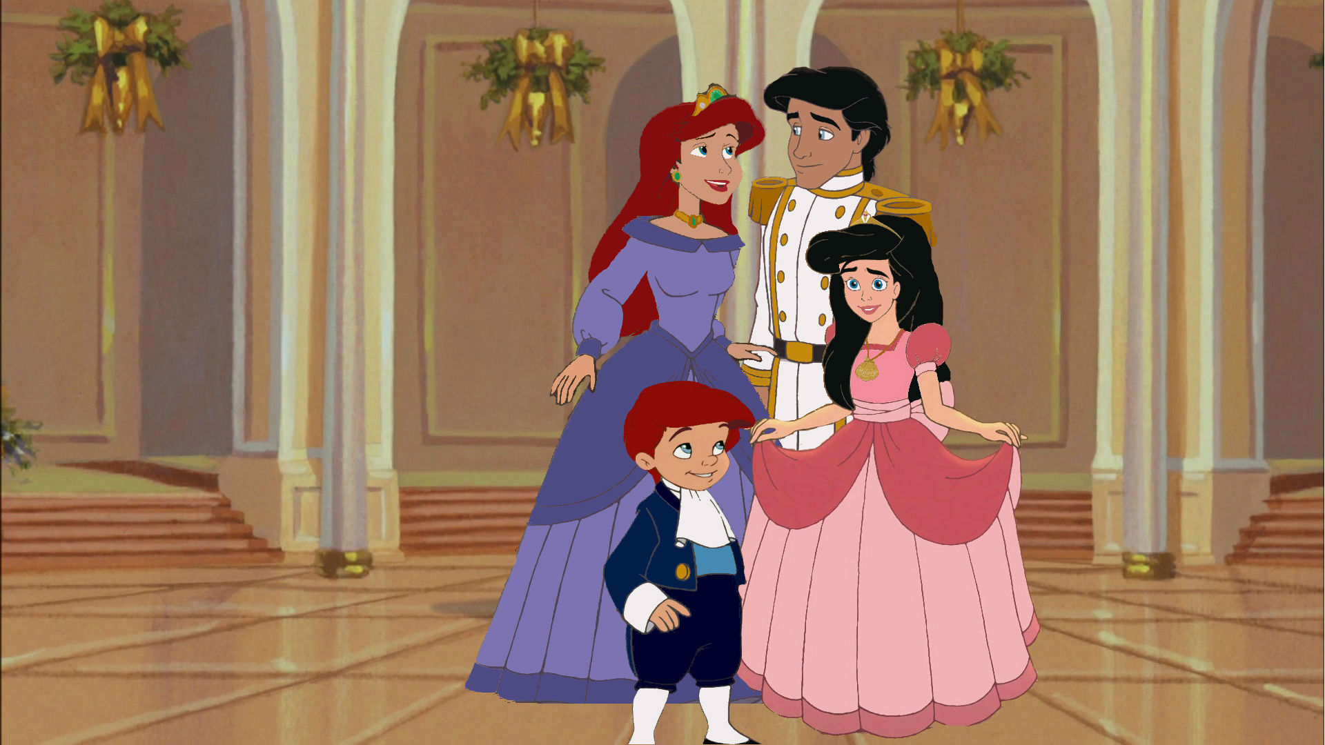 Disney Princess Achtergrond Entitled Ariel And Erics Family Picture