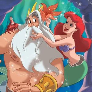 Ariel and King Triton