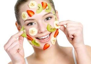 banana and Kiwi and StrawberryFace Mask