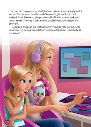 búp bê barbie Video Game Hero Czech Book