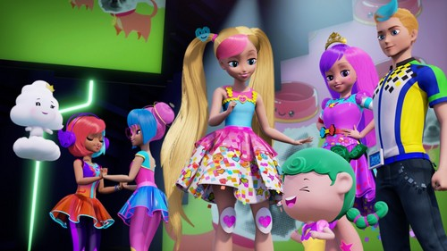 Filem Barbie kertas dinding titled Barbie: Video Game Hero