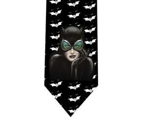 batman Catwoman tie 2 detail