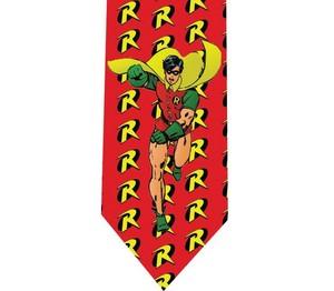 batman Robin tie 2 detail