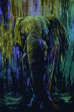 Beautiful elefante Artwork