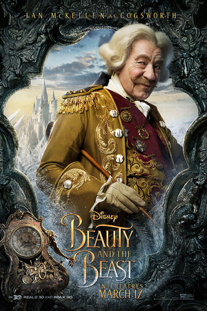 Beauty and the Beast (2017) Character Poster - Cogsworth