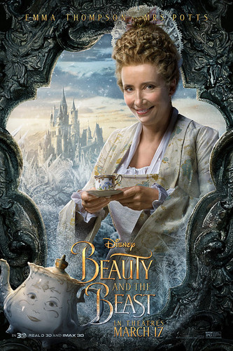 Disney Princess پیپر وال entitled Beauty and the Beast (2017) Character Poster - Mrs. Potts