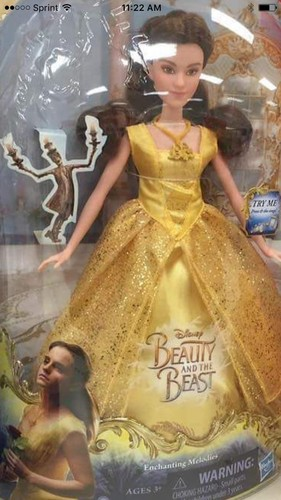 Beauty and the Beast (2017) karatasi la kupamba ukuta entitled Beauty and the beast doll