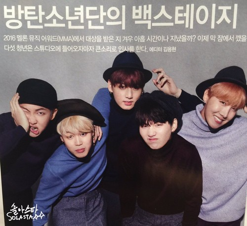 BTS wallpaper entitled BTS SINGLES MAGAZINE 2016