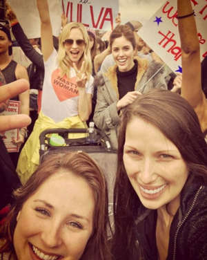 Candice at Women's March 2017