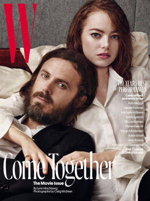 Casey Affleck and Emma Stone - W Magazine Cover - 2017