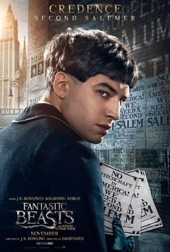 Fantastic Beasts and Where to Find Them wallpaper entitled Character Portrait ~ Credence Barebone