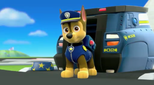 PAW Patrol karatasi la kupamba ukuta entitled Chase, The German Shepherd