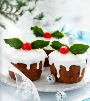 圣诞节 纸杯蛋糕