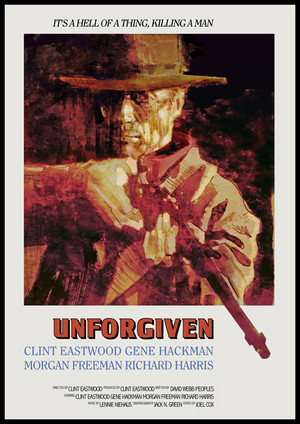 Clint Eastwood...alternate poster for Unforgiven 1992