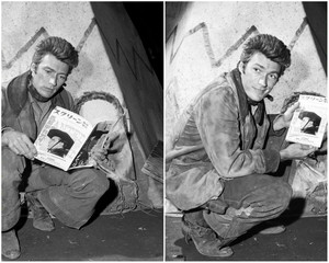 Clint Eastwood promoting Rawhide 1961