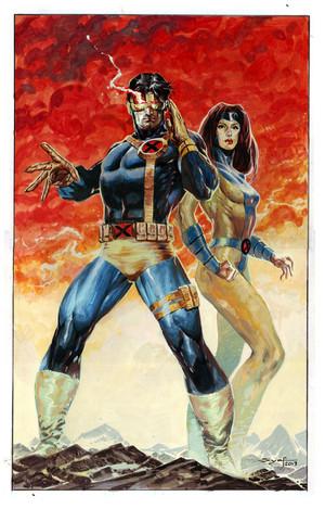 Cyclops and Jean Grey por ardian syaf