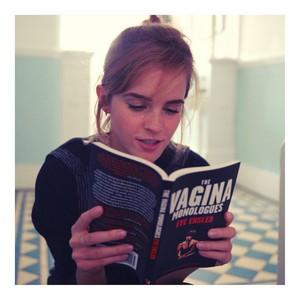 Emma Watson promotes 'The Vagina Monologues'