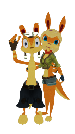 Daxter and Tess the Ottsel Renders