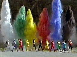 DinoThunder Power Rangers and Ninja Storm Power Rangers Morphed