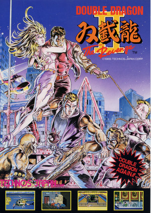 Double Dragon 2 Arcade flyer