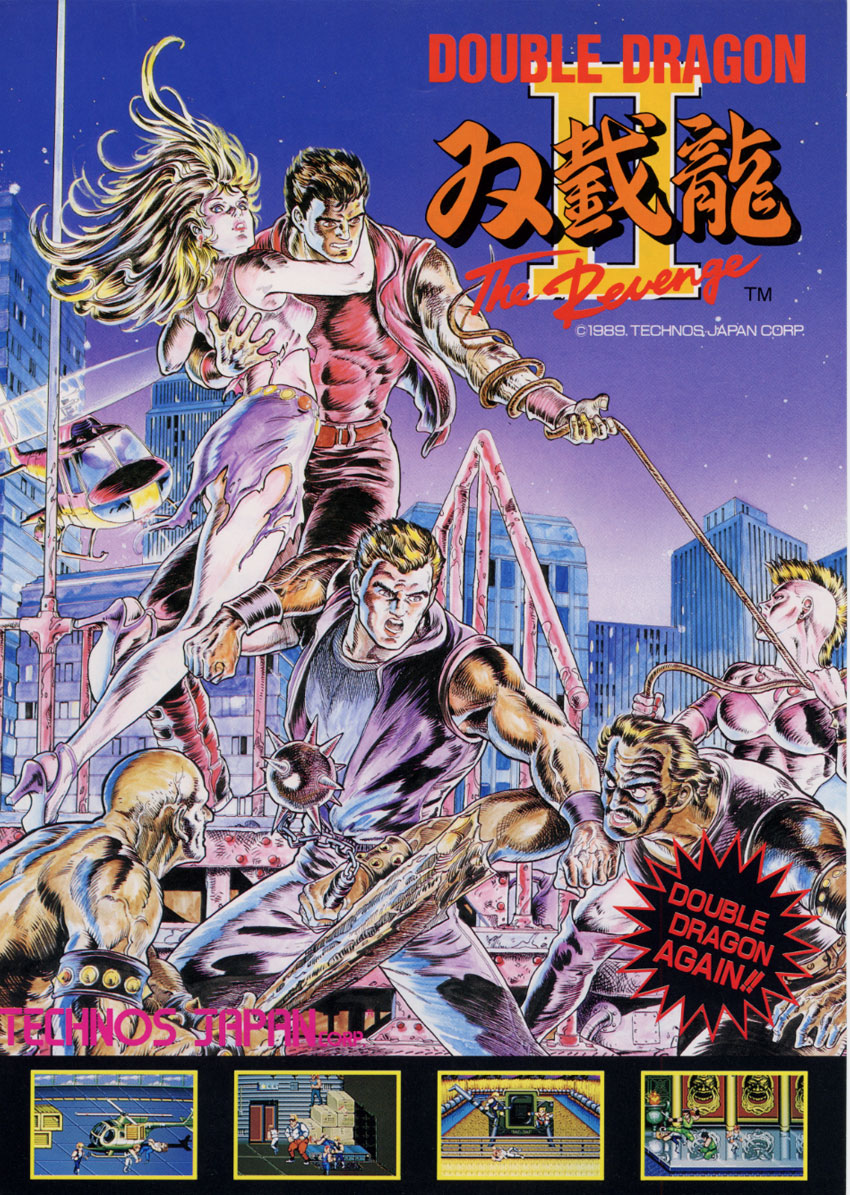 Double Dragon 2 Arcade Flyer Double Dragon Foto 40191112 Fanpop